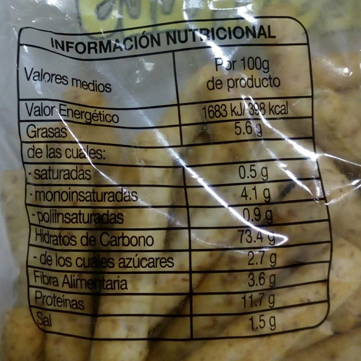 Picos integrales - Voedingswaarden - es