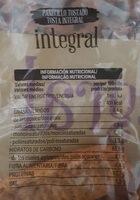 Panecillos tostados integrales - Nutrition facts - es