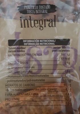 Integrales Panecillos tostados - Voedigswaarden