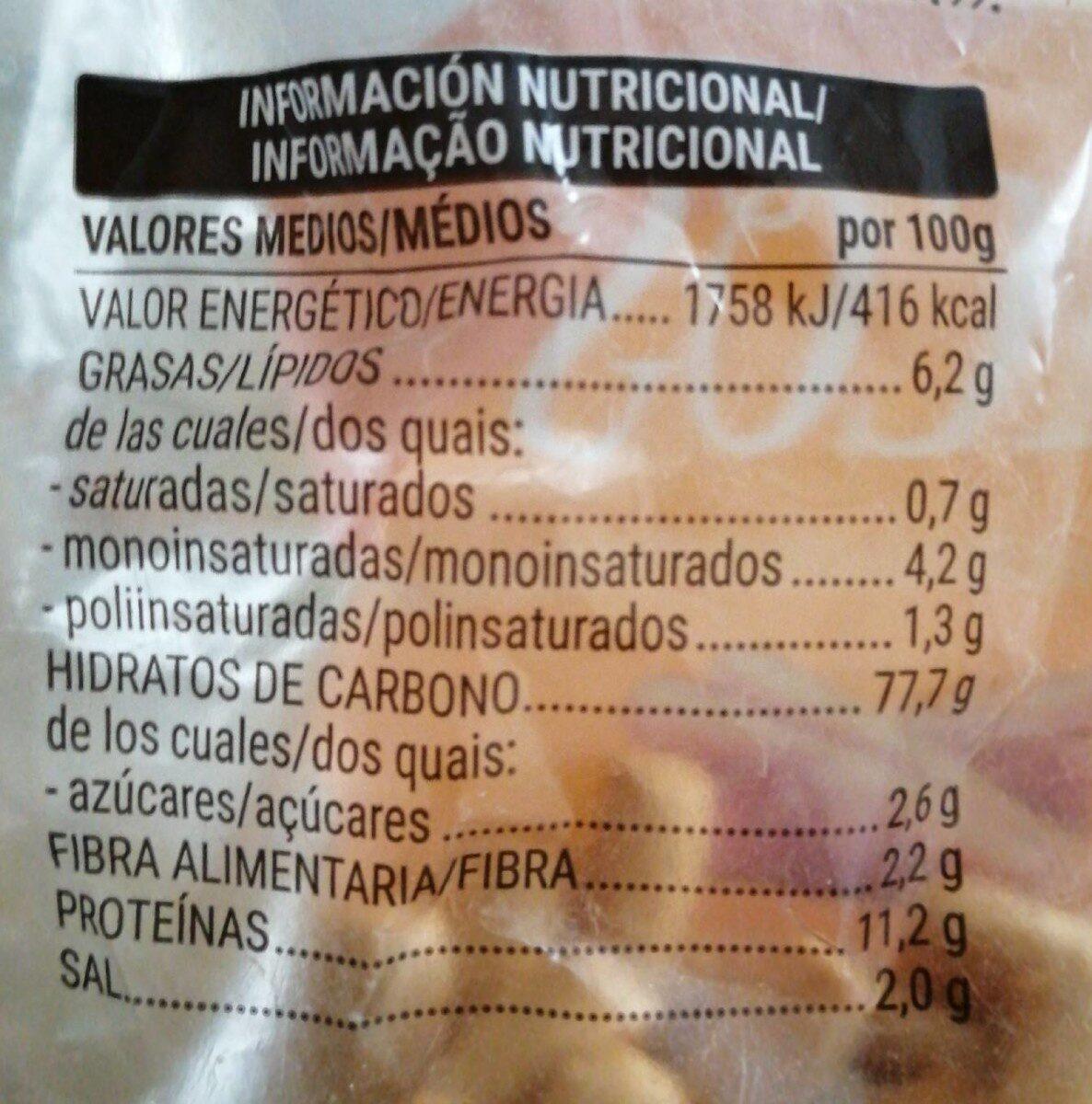 Picos - Información nutricional - es
