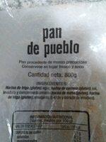 Pan de pueblo - Información nutricional - es
