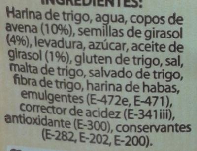 Pan de avena - Ingrédients