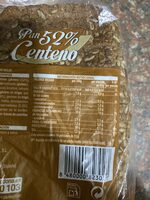 Pan 52% centeno - Nutrition facts - es