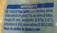 Pan de molde blanco sin corteza - Ingredients - es