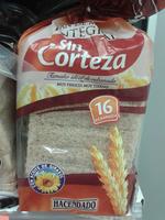 Pan de molde integral sin corteza - Producto