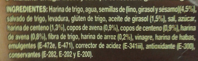 Pan de molde multicereal - Ingredientes - es