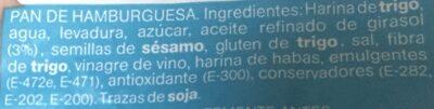 Pan Maxi hamburguesa - Ingredienti - es