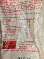 Magdalenas cuadradas - Información nutricional - es