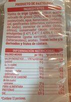 Magdalenas cuadradas - Informations nutritionnelles - es