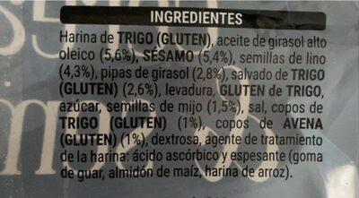 Panecillos tostados multicereales - Informations nutritionnelles - es