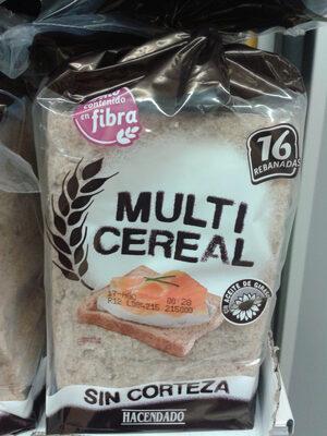 Pan de molde multicereal sin corteza - Producto - es