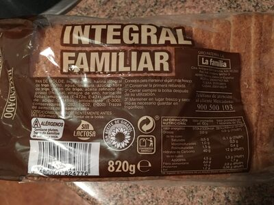 100% Integral Familiar - Producto