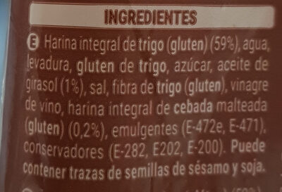 100% Integral Familiar - Ingredientes