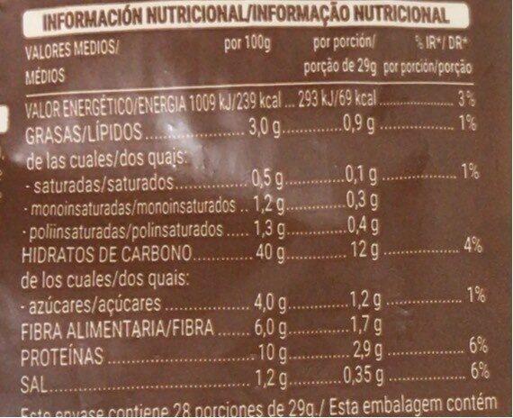 100% integral familiar - Información nutricional - es