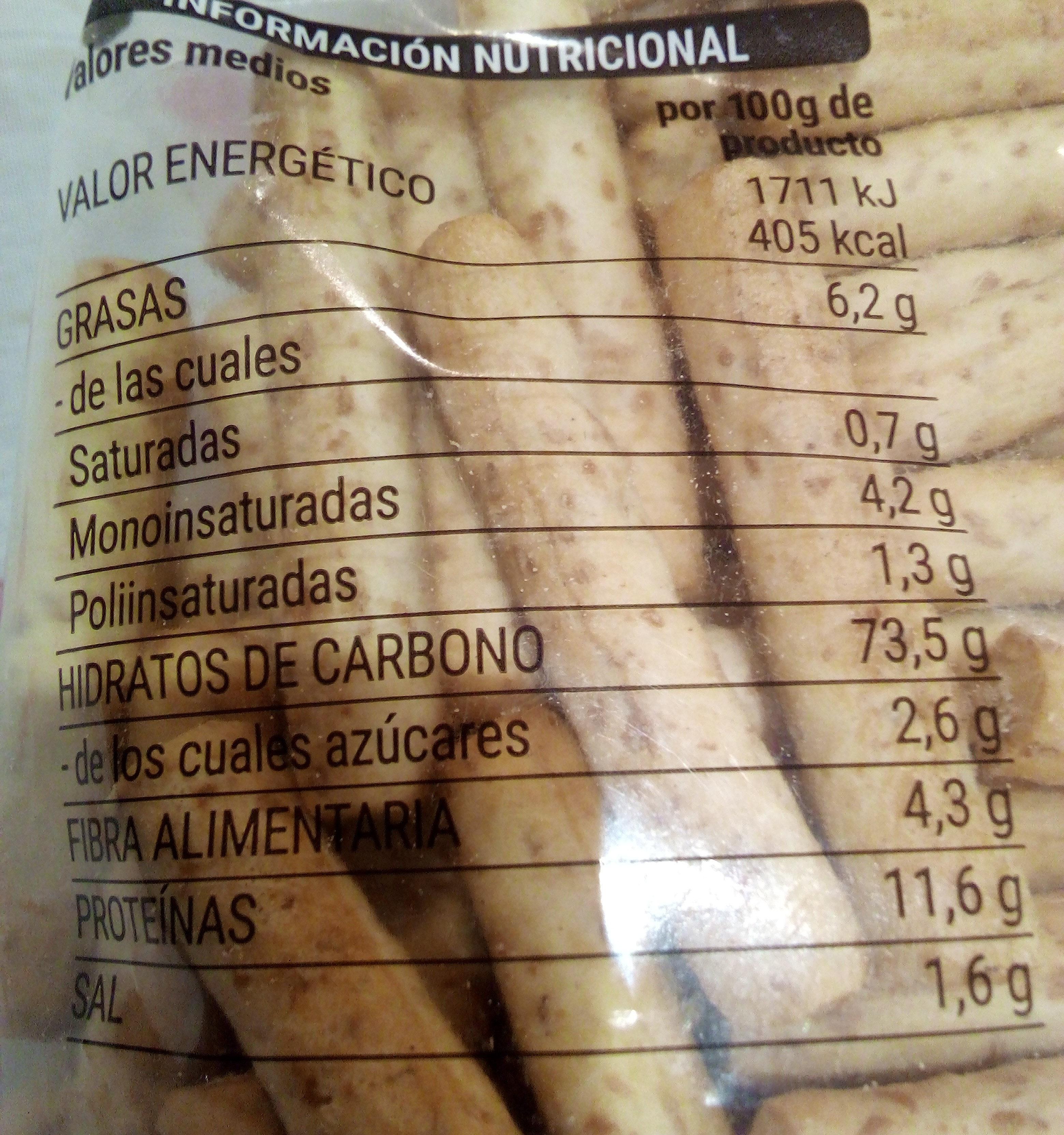 Picos integrales - Ingredients - es