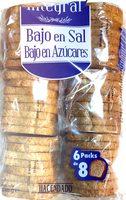 Pan tostado integral bajo en sal y azúcares - Product