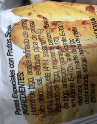 Palitos con frutos secos horneados - Ingrediënten