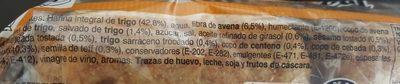 Multicereales sandwich - Ingredientes