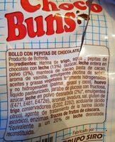 Choco buns - Ingredients - es