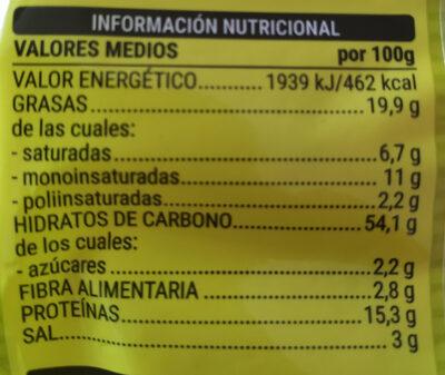 Anitines - Información nutricional
