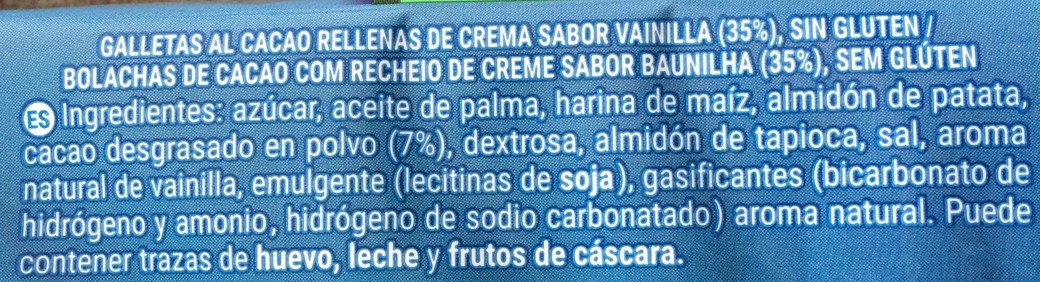Oreo sin gluten - Ingredients - es