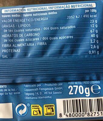 Oreo sin gluten - Nutrition facts - es