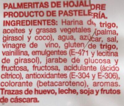 Palmeritas - Ingredientes