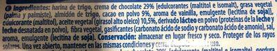 Galleta rellena de crema de chocolate - Ingredients - es