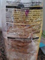 Pan tostado  integral - Ingredientes