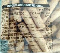 Picos 30 % integrales - Informations nutritionnelles - es