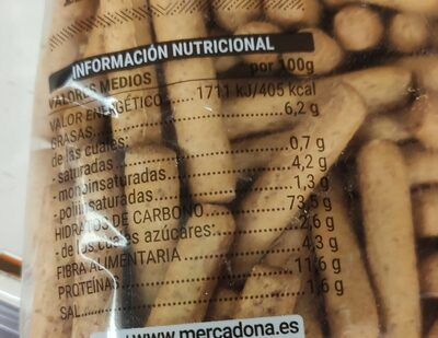 Picos 30% integrales - Informations nutritionnelles