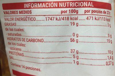 Magdales cuadradas - Nutrition facts - es
