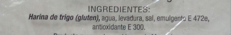 Barra de pan - Ingredientes