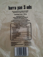 Barra pan - Producto - es