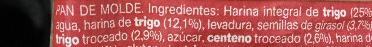 12 cereales y semillas - Ingrédients