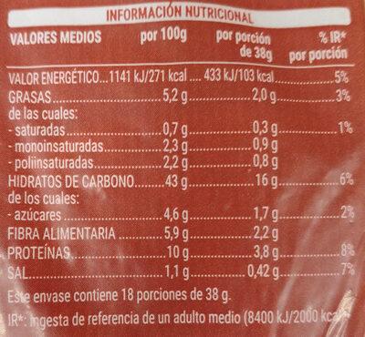 12 cereales y semillas - Informations nutritionnelles