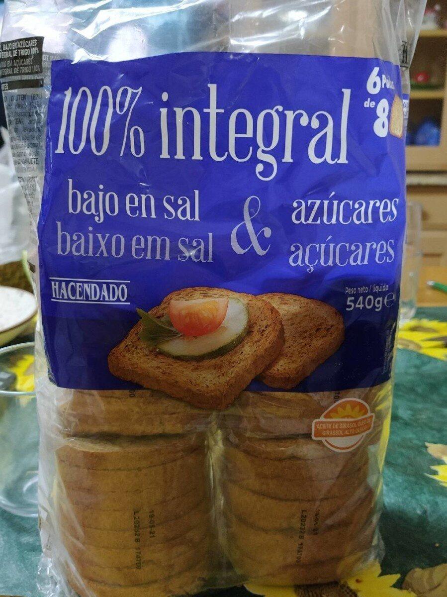 Pan Tostado Integral 540 G Ean 8480000837899 Brown Breads