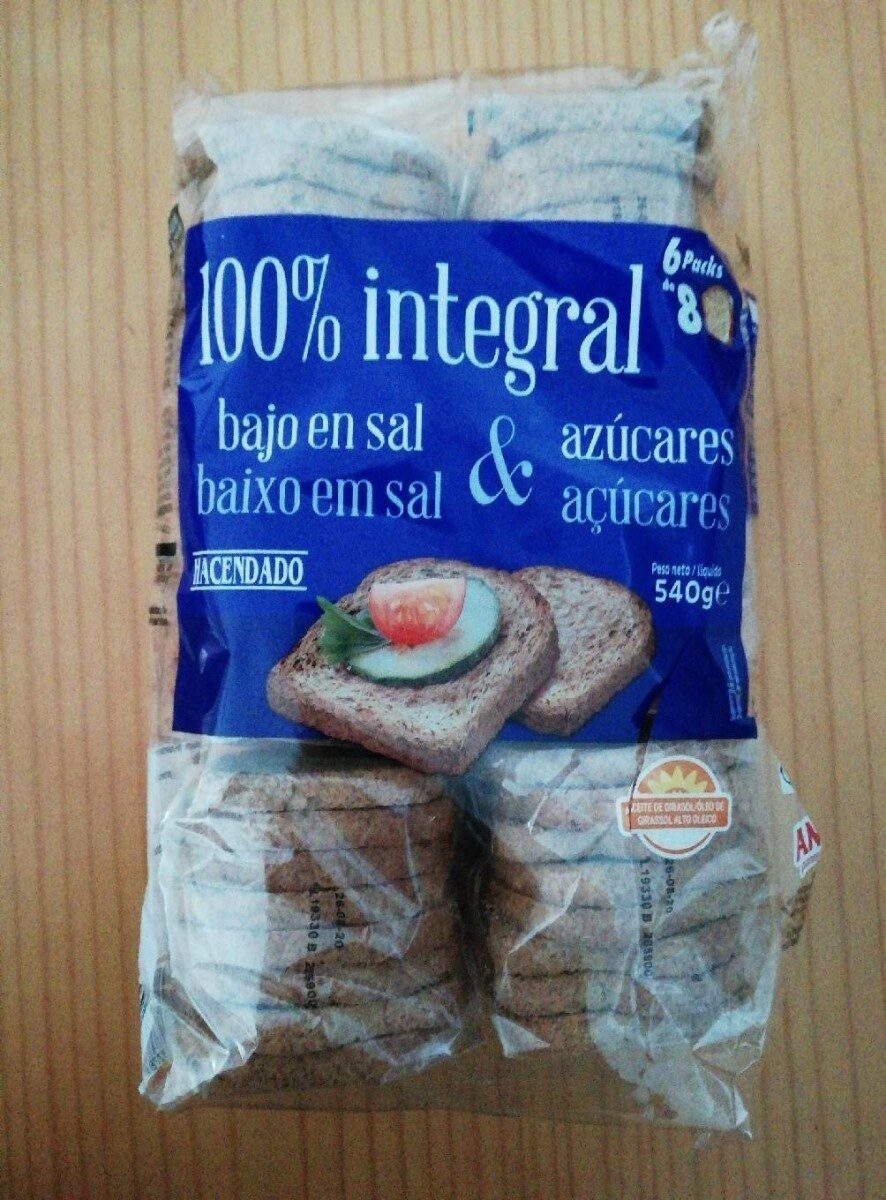 Pan Integral 100 Mercadona Valor Nutricional Pastillas Para Bajar De Peso Naturales Chinas