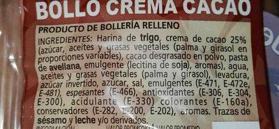Bollo crema cacao - Ingredients