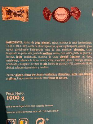 Estuche Surtido Navideño - Información nutricional