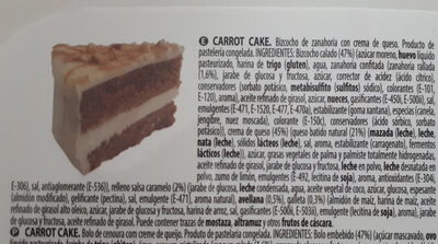 Carrot cake - Ingredientes - es