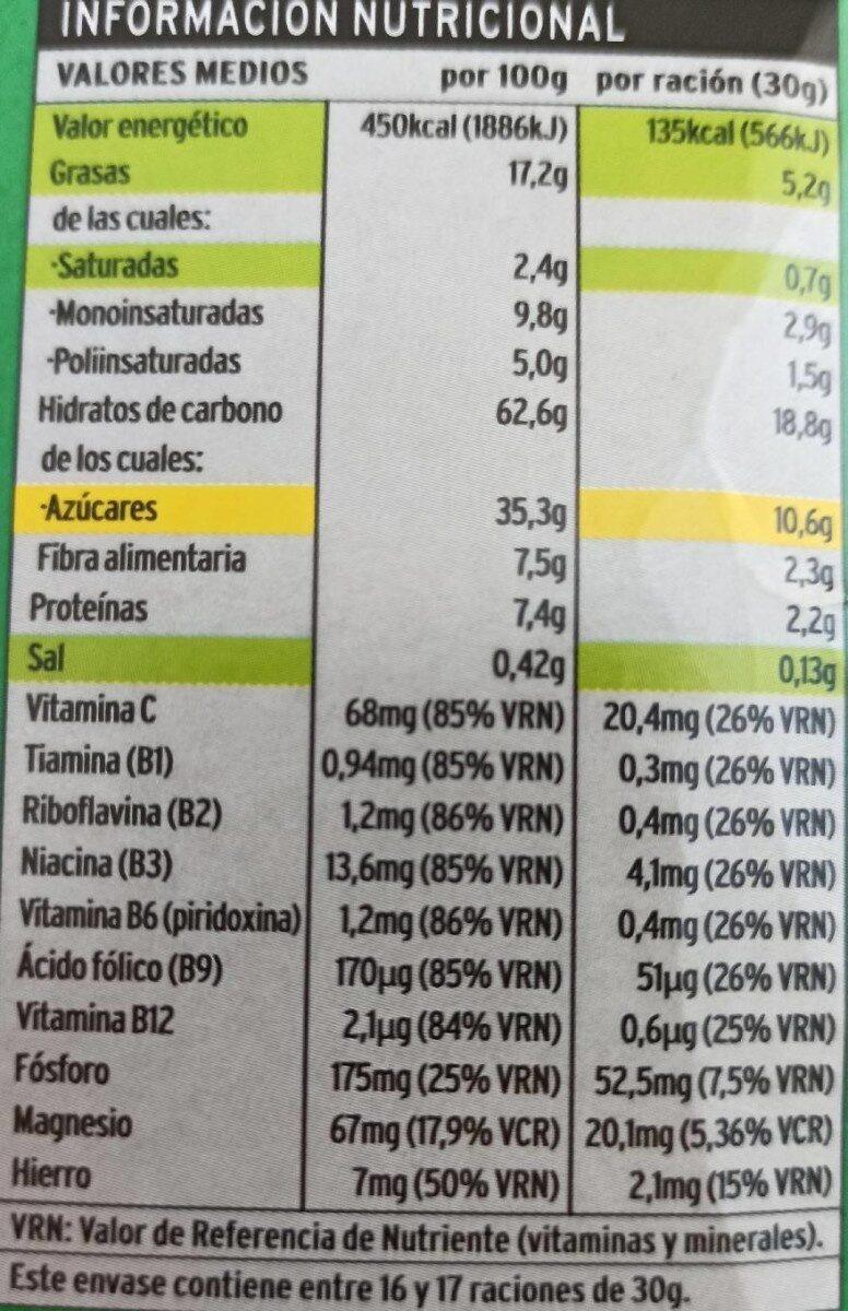 Bagies chocolate - Informations nutritionnelles - es
