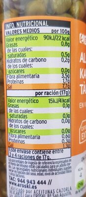 Alcaparras en vinagre - Nutrition facts - es