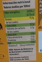 Aceite refinado de girasol - Nutrition facts - es