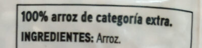 Arroz redondo - Ingredientes - es