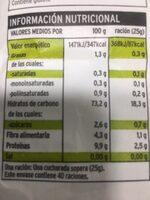 Harina de trigo - Informations nutritionnelles - es