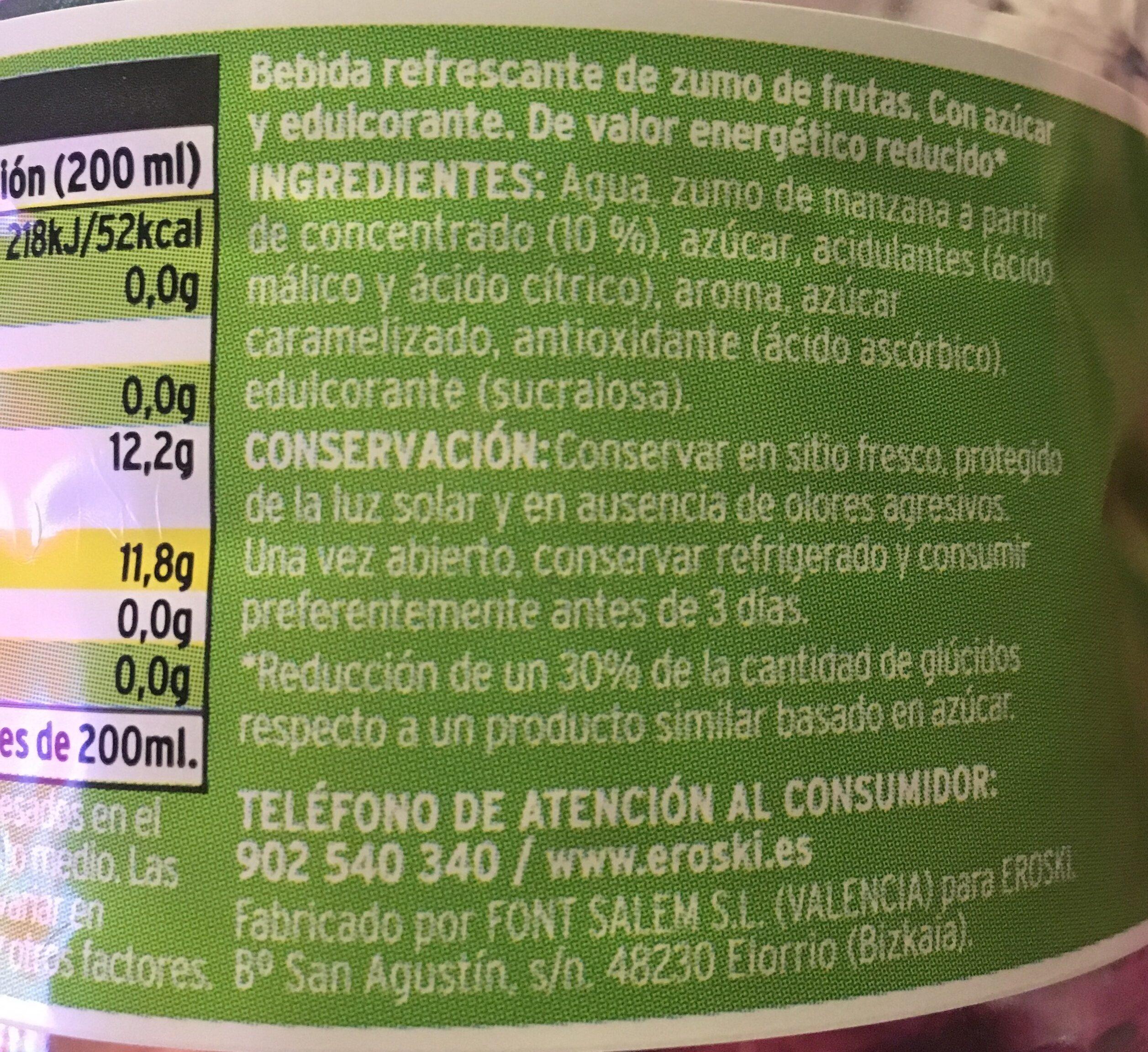 Refresco de manzana sin gas - Ingredientes - es