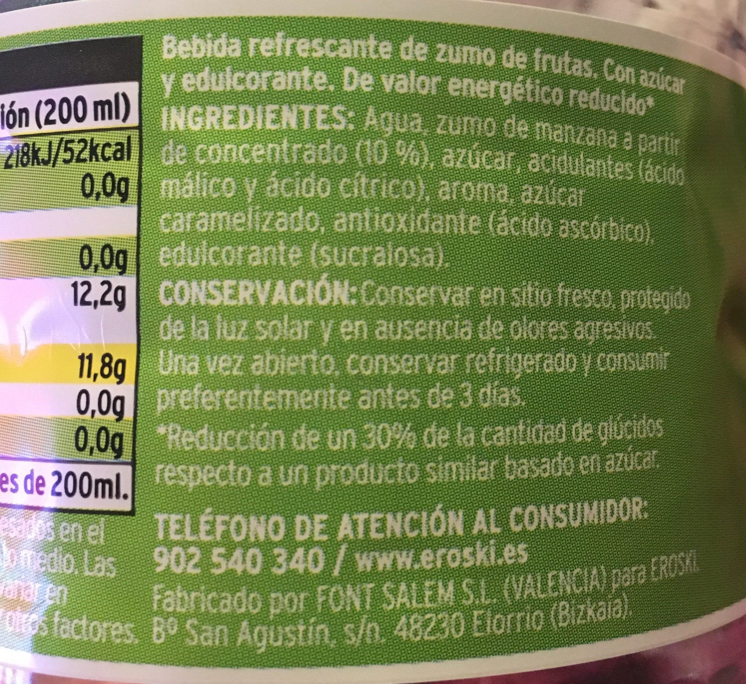 Ju de pomme - Ingredients
