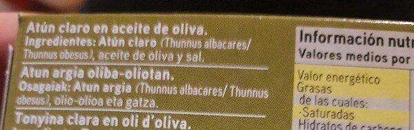 Atun claro en aceite de oliva - Ingrediënten - es