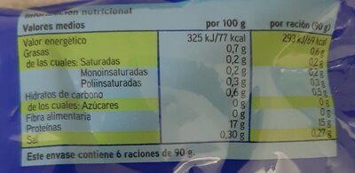 Merluza Filetes con Piel - Información nutricional - es